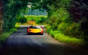 car, Lamborghini, Lamborghini Murcielago, yellow cars