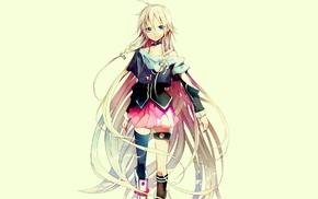 блондинка, голубые глаза, аниме, девушки из аниме, Вокалоид