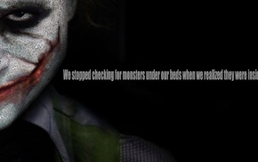 Heath Ledger, quote, Joker, typography, typographic portraits, Batman