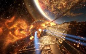 концептуальное искусство, башня, произведение искусства, планета, космический корабль