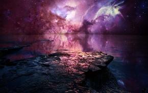 звезды, концептуальное искусство, произведение искусства, небо, фантастическое исскуство