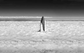 небо, футуризм, вселенная, Земля, астронавт