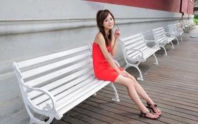 брюнетка, ноги, девушка, Азия