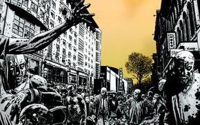 city, fantasy, zombies, street