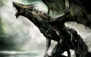 artwork, dragon, concept art, dark, spooky, fantasy art