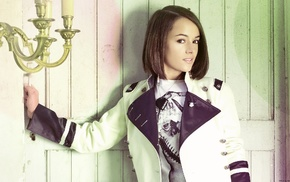 Alizee, dark eyes, girl, France, singer, brunette
