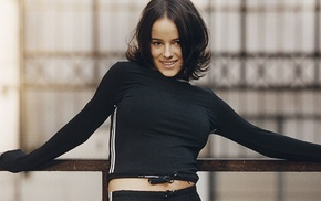 Alizee, dark eyes, working out, France, singer, brunette