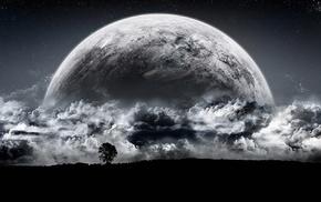 луна, монохром