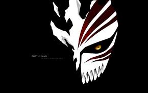 Bleach, black background, Hollow