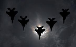 aircraft, sky, jets