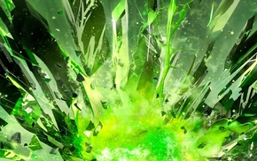 abstract, explosion, crystal, Nvidia