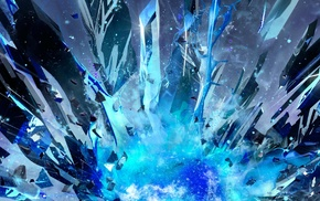 shattered, artwork, digital art, multiple display, abstract, shapes