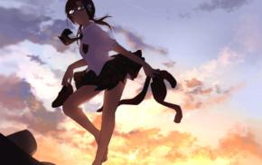 девушки из аниме, школьная форма, Neon Genesis Evangelion, аниме
