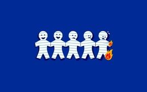 paper, simple, humor, burning