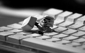 LEGO, LEGO Star Wars, stormtrooper, Star Wars, keyboards