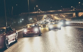 highway, city, car, old car, drift, sports