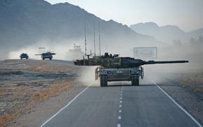 war, tank, road, gun
