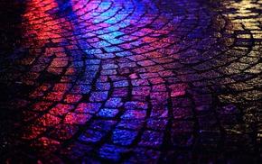 purple, blue, road, black, red